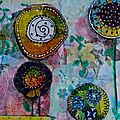 Challenge Artjournal et Gribouillages : fleurs d'été