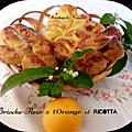 Fleurs de <b>Brioche</b> à la Ricotta et à l'Orange