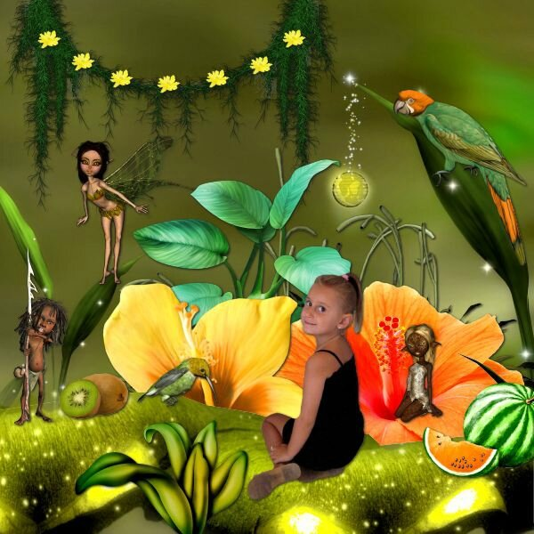 Kittyscrap - walking walk in the tropical island - photo Didine