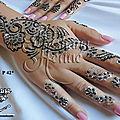 Tatouage au henna et bougie personnalisable au choix