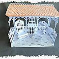 Maquette scrappée : Le kiosque du jardin et ses rocking chair (partie 1/2)