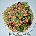 Salade au saumon frais et au blé