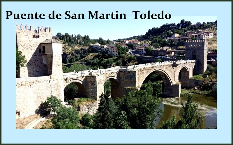 Tolède Puente de San Martin Toledo Artgitato Pont de saint Martin30