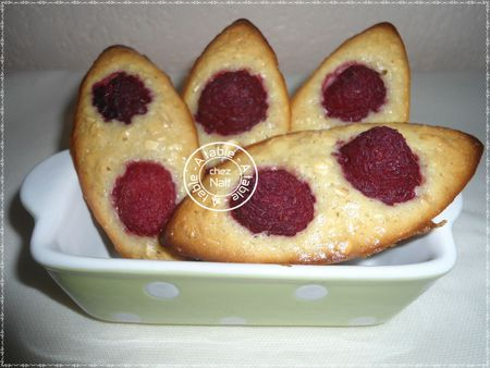 barquettes miel et framboises