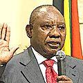 Transition en Afrique du Sud avec Cyril Ramaphosa
