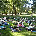 La parenthèse yoga vous propose une initiation au yoga gratuite ce dimanche 14 août 2016 au Parc de l'Orangerie à <b>Strasbourg</b>