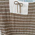 Couverture bébé tricotée main