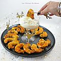 Crevettes croustillantes et <b>mayonnaise</b> à la truffe pour l'apéro