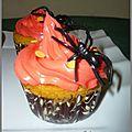 Cup cake super moelleux au potimaron pour Halloween