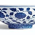 A Fine <b>and</b> Rare blue <b>and</b> White Fruit bowl, <b>Mark</b> <b>and</b> <b>Period</b> <b>of</b> <b>Xuande</b>
