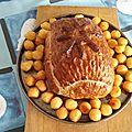 Cœur de jambon en croûte et sauce aux <b>morilles</b>