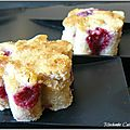 Blondies aux Framboises
