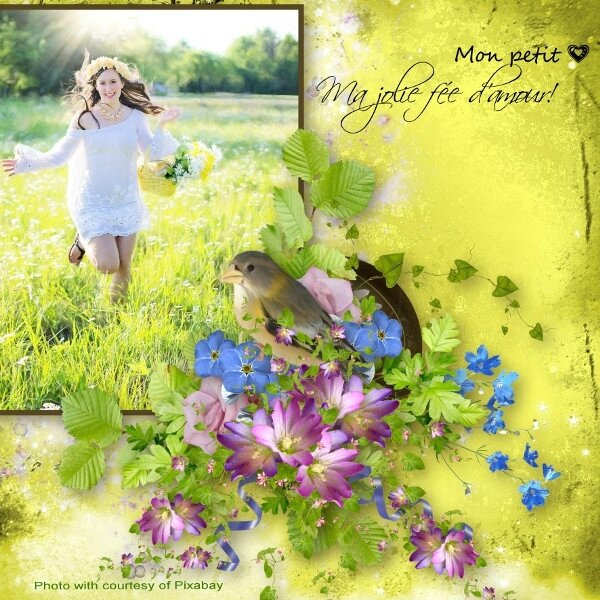 Louise- template volume 9- kit LouiseL jardin enchanté - photo pixabay