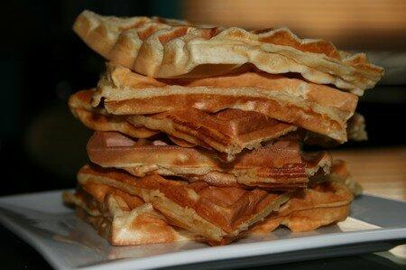 recettes dessert  Gaufres maison