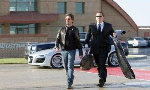 Jon Favreau (l'acteur) et Robert Downey Jr.