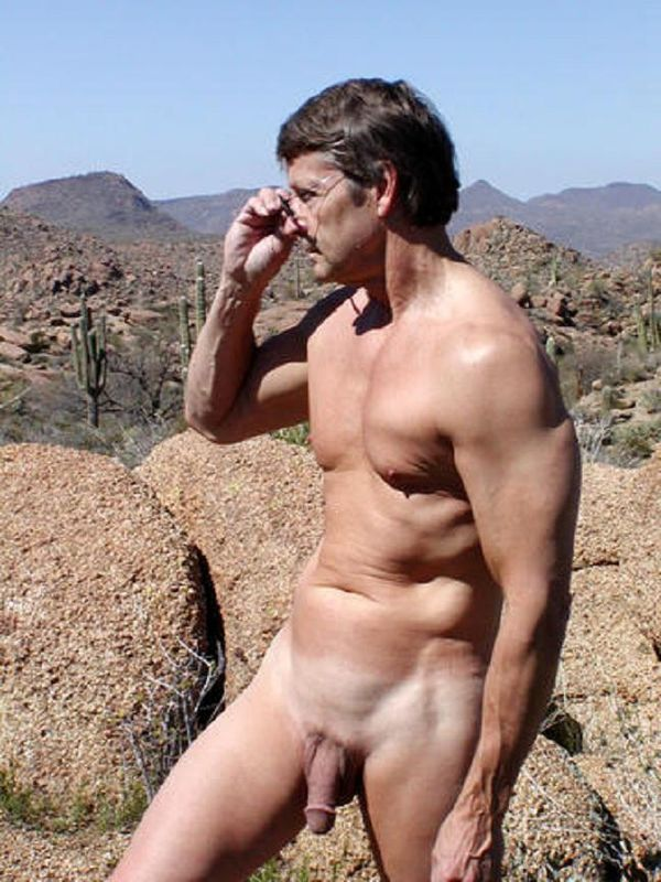 Naked Daddy In The Desert