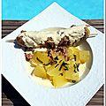 Andouillette sauce moutarde et pommes de terre vapeur