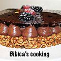 Fantastik au <b>chocolat</b>, mûres et framboises de Christophe Michalak