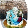 <b>Gateau</b> Reine des neiges, Anna, Olaf .