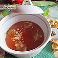 Velouté de tomates au soupmaker.