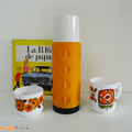 Objet Vintage ... Thermos orange RENAULT