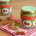 Confiture de rhubarbe vanillée
