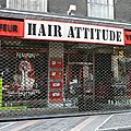 HAIR <b>ATTITUDE</b> Bellegarde Ain coiffeur visagiste photo humour devanture vitrine