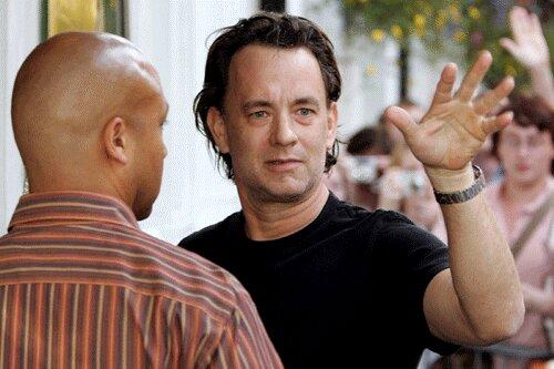 Tom Hanks sur le tournage du Da Vinci Code