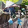 Boucles d'oreilles chips de gemme : <b>turquoise</b>