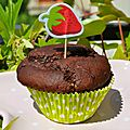 Muffin Choco, Banane, Coco, Coeur Fruits Rouges