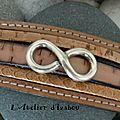 Prototype de bracelet multirangs tons naturel-beige et son passant infini, validé par la cliente suisse ! Et hop direction l'int