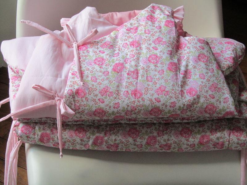 Sous le figuier - Tour de lit liberty rose ...