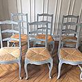 Six chaises anciennes - <b>restauration</b> à la demande
