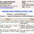 FORMATIONS DE PREDICATEURS LAÎCS 2010-2011 - IPT