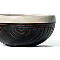 A white-rimmed black-glazed 'Basket weave' bowl, Northern Song-Jin dynasty (960-<b>1234</b>)