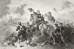 General-Lyons-1818-61-Charge-At-The-Battle-Of-Wilsons-Creek-Missouri