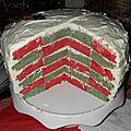 Rainbow Cake aux couleurs de <b>Noël</b>
