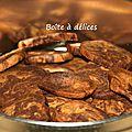 Biscuits sablés <b>marbrés</b> chocolat-vanille