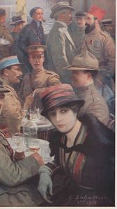 Café de la Paix L Sabattier L'Illustration