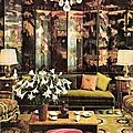 Designer <b>Norman</b> <b>Norell</b>'s living room, 1960