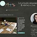 [Mes ateliers - Les Ateliers grenadine et menthe <b>à</b> <b>l</b>'<b>eau</b>] Le site
