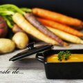Un zeste de... purée patate douce, <b>carotte</b>, pommes de terre