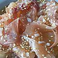Un pamplemousse pour accompagner le <b>jambon</b> cru en salade