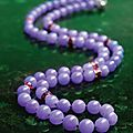 An important jadeite <b>bead</b>, ruby and diamond necklace