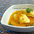Quenelles de volaille maison, rduction de jus de <b>carottes</b> pic  la marocaine