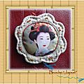 <b>Broche</b> en lin 