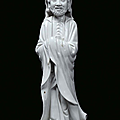 A Blanc de Chine porcelain monk, China, Dehua, Qing Dynasty, <b>18th</b> <b>century</b>