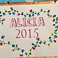Calendrier 2015 d'Alicia