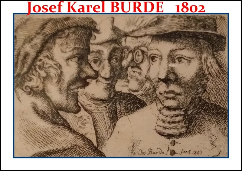Josef Karel Burde Dessins Artgitato Portrais 1802