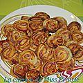 Mini-feuilletés bacon-<b>parmesan</b>